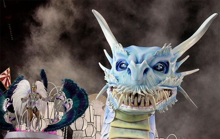 Rio Carnival Dragon Floats