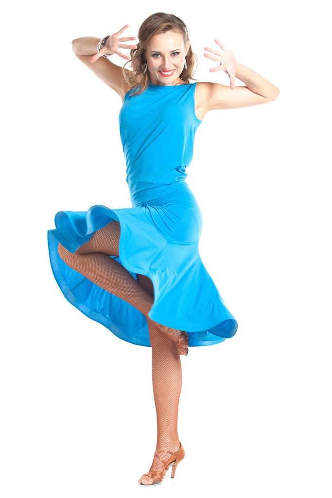 Blue Dance Top And Skirt Set